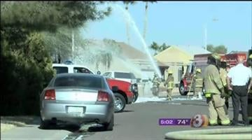 Angry bees stung two teenagers and a firefighter in a Peoria neighborhood. By Mike Gertzman