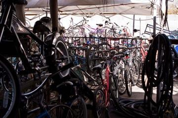 Police in Phoenix uncovered hundreds of stolen bicycles in a backyard near 19th and Sweetwater avenues Thursday morning, and arrested two people living at the home. By Catherine Holland