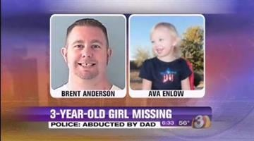 A Valley mother is begging the public for help finding her 2-year-old daughter and the man she believes took her -- the little girl's biological father, Brent Anderson By Catherine Holland