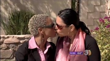 Kenyata White and Aeimee Diaz were asked to leave a valley hotel restaurant for kissing. By Mike Gertzman
