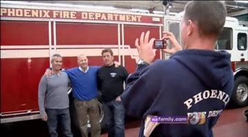 A man who was rescued from Camelback Mountain thanks the firefighters who saved him By Mike Gertzman