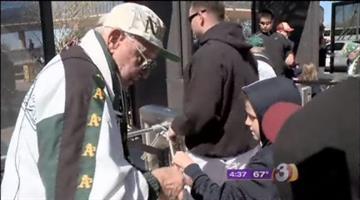 Chet O. is a ticket taker at Phoenix Municipal Stadium. By Jennifer Thomas