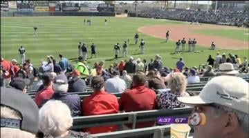 March 2 spring training game between the Oakland A's and Seattle Mariners By Jennifer Thomas