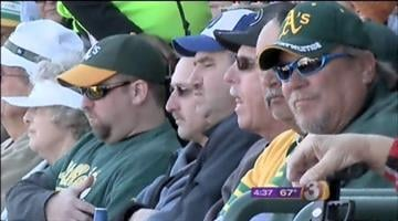 Fans at the March 2 spring training game between the Oakland A's and Seattle Mariners By Jennifer Thomas