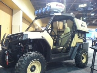 An off-road vehicle on display at the The Border Security Expo. By Mike Gertzman
