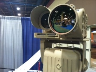 Some of the advanced surveillance equipment on display at The Border Security Expo is capable of seeing a distance of 8 miles. By Mike Gertzman