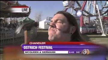 """In addition to ostriches, rides and music at this weekend's 24th annual Ostrich Festival in Chandler, visitors will also be entertained, and perhaps disgusted, by """"FreakShow Deluxe."""" By Jennifer Thomas"""