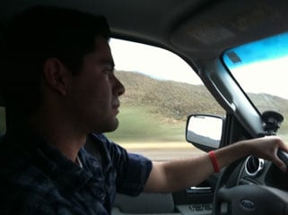 3TV reporter Mike Watkiss and 3TV photographer Jeremy Bermudez heading north on Interstate 17 Saturday night to report from the high country on the winter storm rolling into Arizona this weekend. By Mike Gertzman