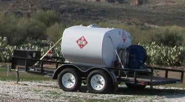 This 600-gallon aluminum jet fuel tank was stolen from the Superior Municipal Airport between March 5 and March 8. By Jennifer Thomas