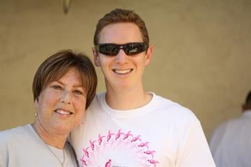 Valley triathlete Adam Fuller with his aunt Leslie Whitfield. She died after a 19 year battle with breast cancer. By Mike Gertzman