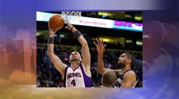 The Spurs won their fifth in a row and eighth in nine games with a 107-100 victory over the Suns Tuesday night. By Jennifer Thomas