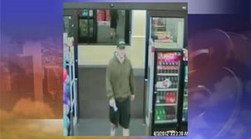April 3 surveillance photo of suspect who committed armed robberies at Walgreens and CVS pharmacies in Goodyear and Phoenix By Jennifer Thomas