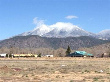 In this picture, taken on April 12, 2012, you can see the a dusting of snow on the San Francisco Peaks in Flagstaff, Ariz. By Mike Gertzman
