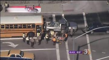 A school bus and two other vehicles were involved in a collision in Peoria. By Jennifer Thomas