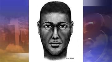 Composite drawing of the suspect in an April 18 double shooting near 48th Street and Virginia Avenue in Phoenix. By Jennifer Thomas