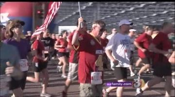 It was a sold-out race in Tempe Saturday morning as 28,000 people hit the pavement in memory of Pat Tillman. By Jennifer Thomas