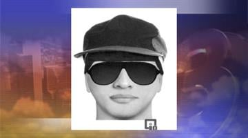 Sketch of suspect who robbed a Great Western Bank in Maricopa By Jennifer Thomas
