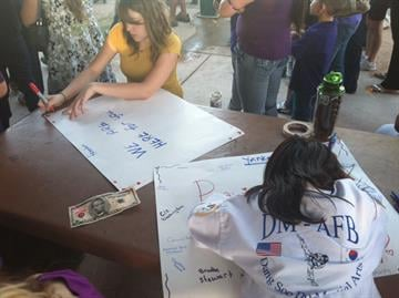 There was a vigil on Tuesday night at Freedom Park in Tucson, for Isabel Celis, the six-year-old Tucson girl who has been missing since Saturday. By Mike Gertzman