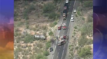 A semitruck and an SUV crashed on U.S. 93 Thursday morning. By Jennifer Thomas