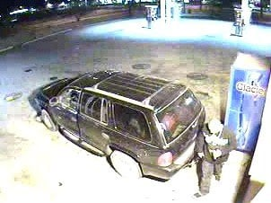 The robbery suspect fled the scene in a dark-colored SUV, which was driven by another Hispanic male. By Jennifer Thomas