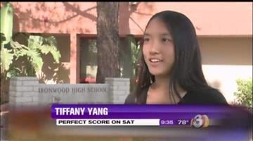 Ironwood High School junior Tiffany Yang earned a perfect score on the ACT assessment test. By Jennifer Thomas