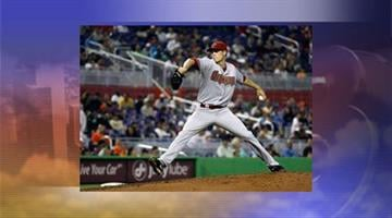 Arizona Diamondbacks' Patrick Corbin throws against the Miami Marlins in the fourth inning of a baseball game in Miami, Monday, April 30, 2012. (AP Photo/J Pat Carter) By Jennifer Thomas