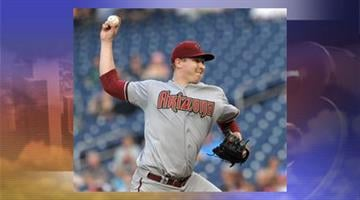 Arizona Diamondbacks starting pitcher Trevor Cahill delivers a pitch against the Washington Nationals during the first inning Tuesday, May 1, 2012. By Jennifer Thomas
