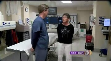 Kathy Kukla is the first person to receive radioembolization at Banner Boswell Medical Center. By Andrew Michalscheck