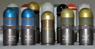 The gold grenades in this pictures are similar to the ones authorities said they found at the Gilbert home, according to a spokesperson with the Bureau of Alcohol, Tobacco, Firearms and Explosives By Mike Gertzman