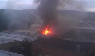 Firefighters are battling a fast-moving blaze at Prescott's famous Whiskey Row. There are reports that the fire By Mike Gertzman