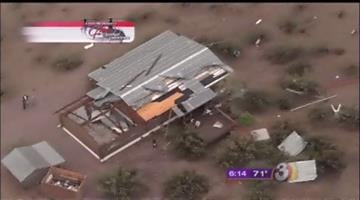 A home near that mobile home park sustained severe damage from the storm By Mike Gertzman