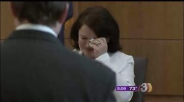 Tammi Smith cries in court on May 9 By Jennifer Thomas