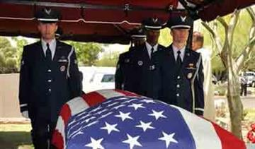 Funeral services for Air Force Maj. Gen. Donald L. Owens, former Arizona Adjutant General. By Andrew Michalscheck