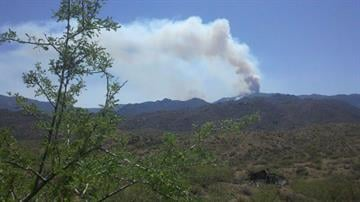 A view of the Gladiator wildfire from Cleator, Ariz. By Mike Gertzman