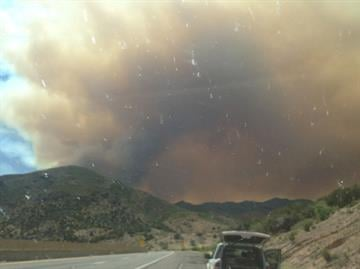 Sunflower Fire on Tuesday, May 15, 2012 By Mike Gertzman