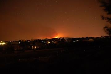 A view of the Gladiator Fire from Prescott, Ariz. By Mike Gertzman
