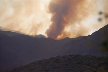 A view of the Gladiator Fire from Cleator, Ariz. By Mike Gertzman