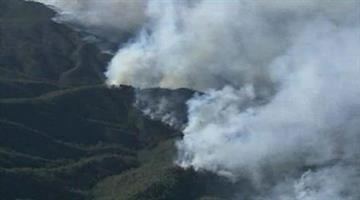 A view from the air on Thursday of the Gladiator Fire near Crown King, Ariz. By Mike Gertzman