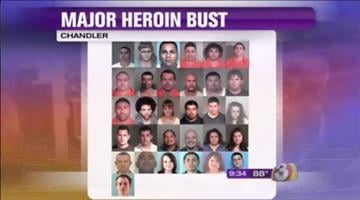 Suspects in a heroin-related drug bust in Chandler By Jennifer Thomas