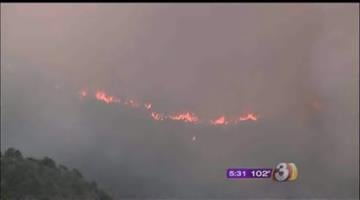 The Sunflower Fire spans approximately 14,500 acres, and is about 15 percent contained. By Andrew Michalscheck