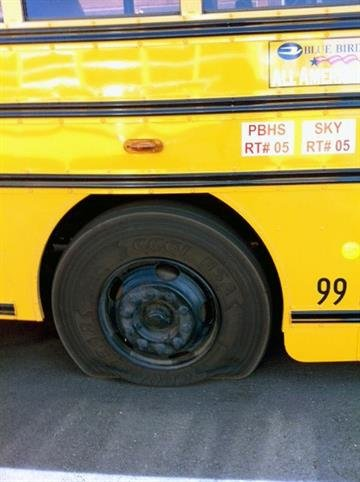 School buses were vandalized in Florence By Jennifer Thomas