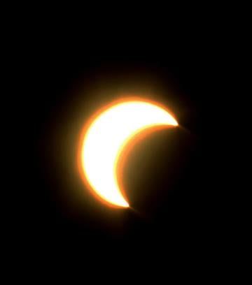 A view of the solar eclipse from Maricopa, Ariz. By Mike Gertzman