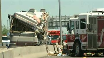 A fatal crash involving a motor home on the Loop 202 at 32nd Street By Mike Gertzman