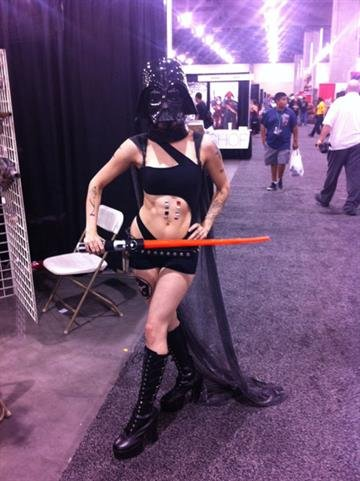 The annual Phoenix Comicon is this Memorial Day weekend at the Phoenix Convention Center in downtown Phoenix. Is this Darth Vader's wife? By Mike Gertzman