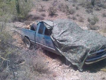 Maricopa County Sheriff's deputies found a truck in the Vekol Valley area with more than a half a ton of marijuana. By Andrew Michalscheck