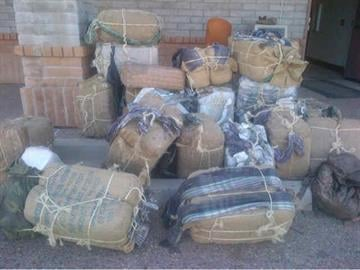 Maricopa County Sheriff's deputies seized between $750,000 and $1.35 million worth of marijuana on Wednesday. By Andrew Michalscheck