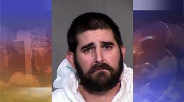 Mitch Rinehart, 34, was arrested after allegedly throwing cans of beer at two women. By Mike Gertzman