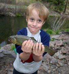 Fishing is always free in Arizona for kids under the age of 14. By Andrew Michalscheck