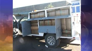 Nogales Border Patrol agents found more than 1,900 pounds of marijuana inside an abandoned vehicle. By Andrew Michalscheck