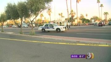 A police car hit a man near Dunlap and 41st avenues in Phoenix. By Jennifer Thomas